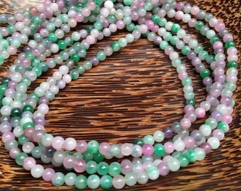 4mm Colorful Jade Gemstone Beads Strands (G 410)