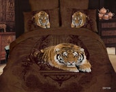 Bedding set 3d cotton Duvet/quilt cover king queen full size Luxury animal Bed linen sets