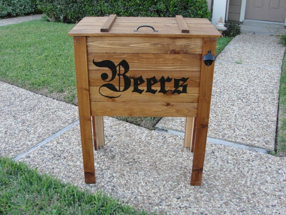 Outdoor Cedar Ice Chest Cooler Stand By StevensHome On Etsy