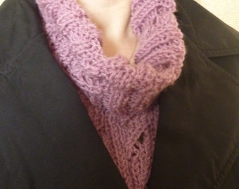 Custom Color Cowl-neck Faux Scarf-- Light Wieght