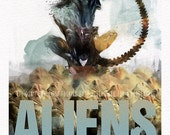 """Aliens (Sigourney Weaver, James Cameron) Movie Poster 24""""x36"""" - Free Shipping in United States"""