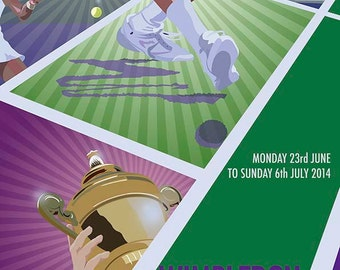 Wimbledon 2014 Poster (12x16 inches) (30x40 cm)