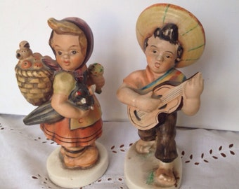 Pair Of Vintage Friedel  Bavaria Figurines see descripton for condition