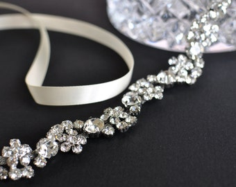 Wedding headpiece, headband, ELLA, Rhinestone Headband, Wedding Headband, Bridal Headband, Bridal Headpiece, Rhinestone