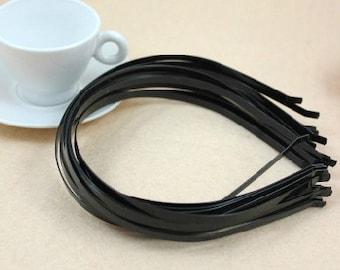 15pcs 5mm Black  Headbands W/Bent Ends