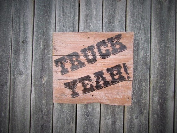 Man Cave Garage Gifts : Truck yeah man cave sign garage gifts for by