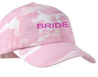 Camo Bride/Groom Hat (PINK CAMO)
