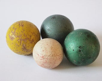 Items Similar To Vintage Wooden Balls Set Of 4 On Etsy