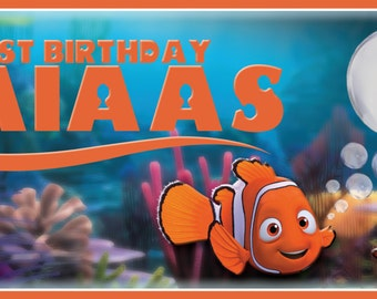 Finding Nemo Birthday Banner File for Printing 6' x 2.5' - DIGITAL File