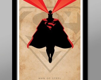 Superman - Man of Steel - Poster 195 - Minimalist Movie Poster - Home Decor