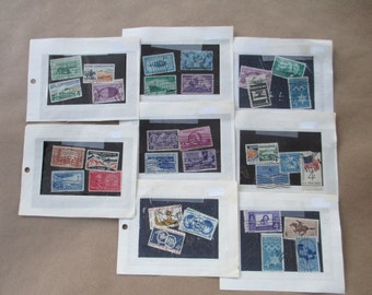 Cancelled 3 and 4 Cent Postage Stamps