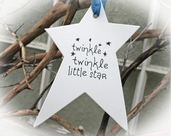 Baby Shower, twinkle twinkle baby shower- Ivory Cardstock