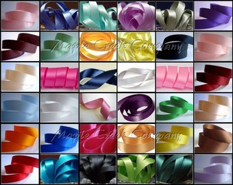 "170 yds DF Satin Ribbon 5/8"" wide (34 colors - 5yds of each color) 34 items"