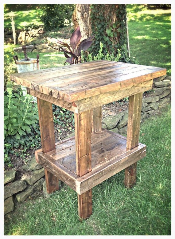 handmade rustic side table kitchen island