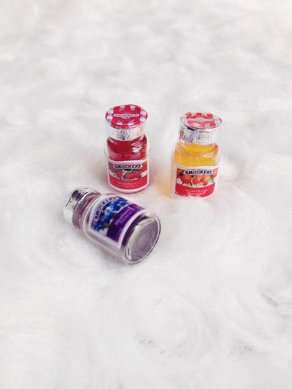 Doll house miniature Fruit Jam Bottle, Jam bottle Miniature,Doll house,Miniature Accessory, Miniature Sweet,Miniature Jam,Miniature Jewelry