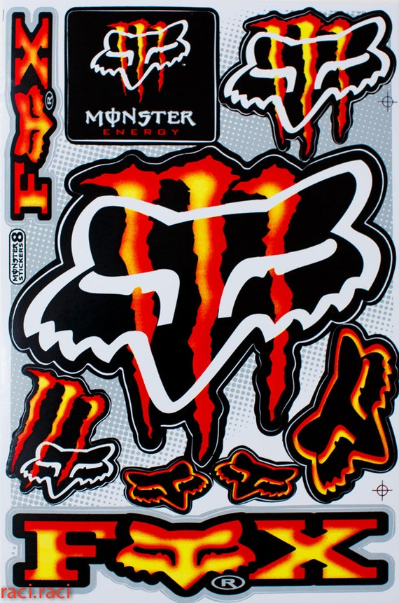 Orange Monster Logo Red Orange Monster Energy