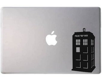 Laptop decal – Laptop Sticker – Macbook Pro decal – Macbook Air decal – Car window – Hipster - Doctor Who Tardis