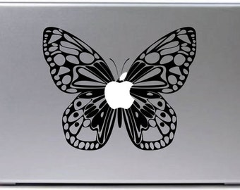 Laptop decal – Laptop Sticker – Macbook Pro decal – Macbook Air decal – Car window – Hipster -  Butterfly
