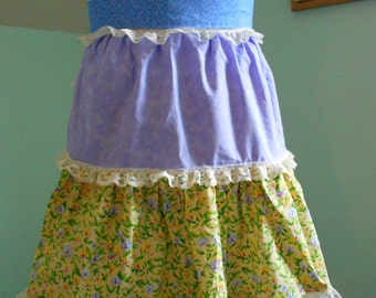 Spring Floral and Lace Apron