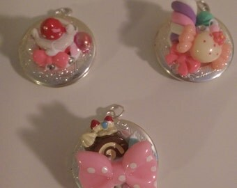 Kawaii Sweets Deco Locket, premade or custom design
