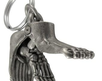 Foot Anatomy Keychain - Podiatry Keychain, Anatomy Keychain, Physical Therapy, Chiropodist