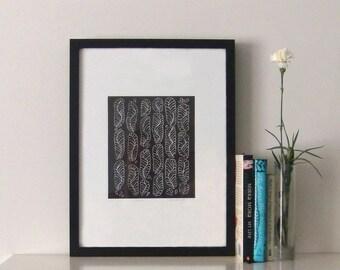 Feathers 2010 - Linoprint, original artwork