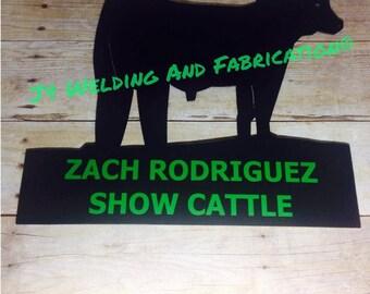 Livestock Pen / Gate Signs for FFA or 4-H, Farm, Ranch: Steer or Heifer