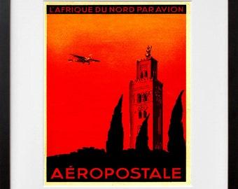 Airplane Art Travel Poster Tourism Print (TR15)