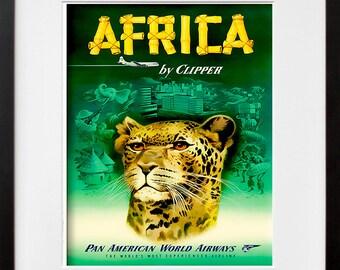 Africa Travel Poster African Art Print Home Decor (ZT372)