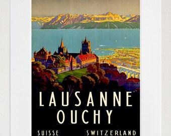 Switzerland Travel Art Swiss Poster Print Home Decor (XR177)