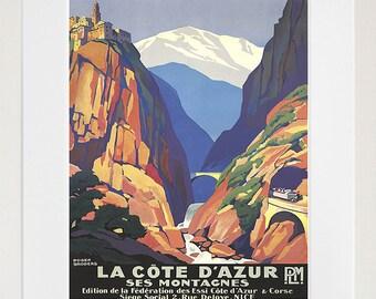 France Retro Poster French Art Travel Poster Wall Art Print (XR186)
