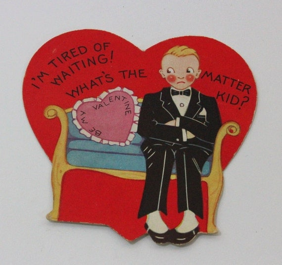 Vintage Valentines Day Cards From 1950s With By Vintagetypes