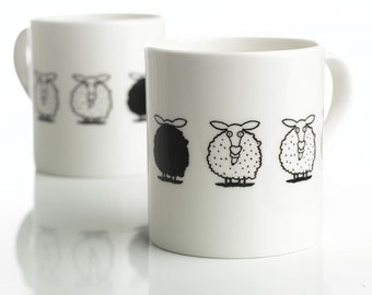 Black Sheep Bone China Mug