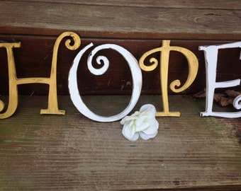 Shabby Chic Wall Decor, Monogram, PiCK yoUR LEtteR and COLor, 4 letters