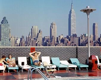 New York 1963 64 Broadway Yellow Cab Times Square Cinema Show