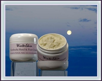 Kombucha Hand and Foot Cream, Shea Butter, Coconut Oil, Vanilla Scent