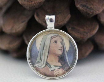 St. Lydwina Euphori Catholic Christian Medal Pendant Patron Saint Religious Jewelry