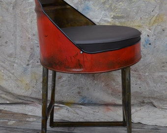 Industrial Furniture Barrel Bar Stool. Choose your color