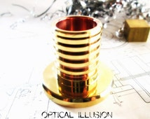 Custom Metal Large Mod Vape Stand - Brass and Copper Ecigarette Stand - Vamo style Larger Vaping holder - OPTICAL ILLUSION TWO - Custom Made
