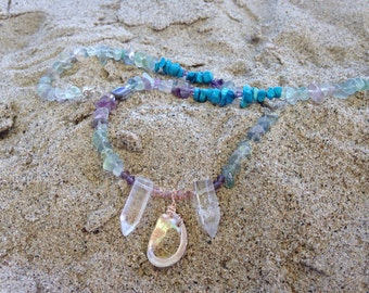 Mermaids Treasure chest Necklace