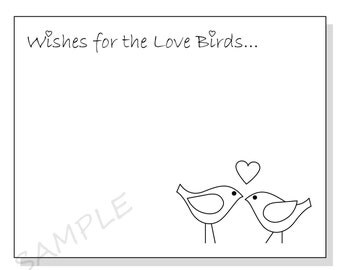 DIY Wishes for the Love Birds Printable Cards for a Shower or Wedding