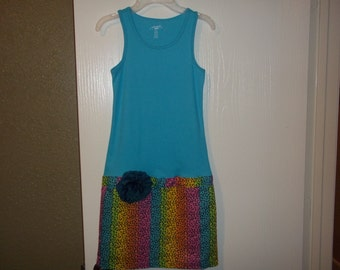 Girl's Tanktop Sundress/DRESS/ size 10/12, Great dress for Birthdays, Outtings and More handmade by Mvious Da'Zigns