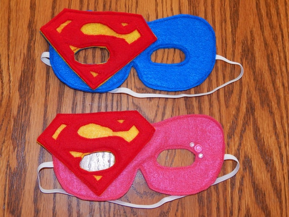 Inspir de superman ou supergirl superwoman feutrine - Masque de superman ...