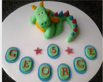 edible dragon cake topper *personalised*