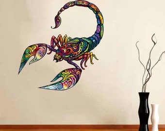 Full Color Wall Decal Mural Sticker Art  cheerful scorpion Removable colorful ornament