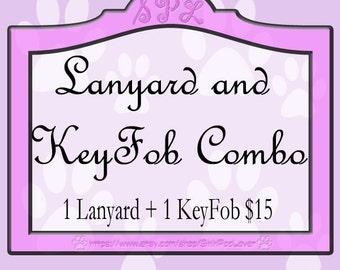 1 Lanyard + 1 KeyFob Combo Package