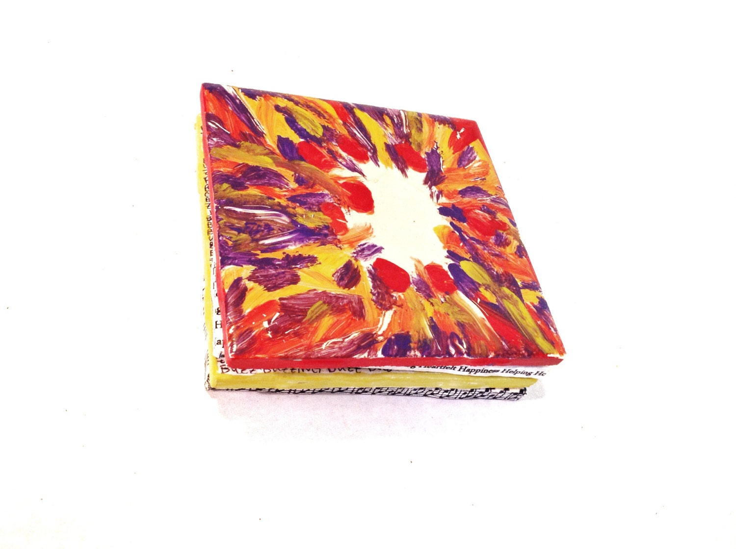 Hand painted ceramic tile coaster evening by smileshopcreative - Hand painted ceramic tile ...