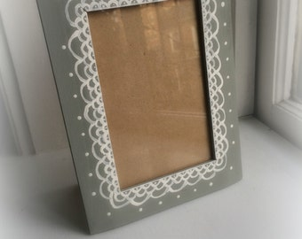 Painted Lace Frame