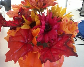 Fall Centerpiece Flower Arrangement