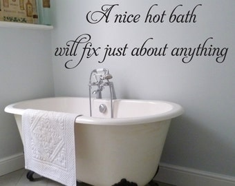 Hot Bath Wall Decal -  Different Colors Available